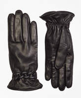 Brooks Brothers Leather Gloves with Chain Detail