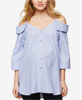 Collective Concepts Maternity Cold-Shoulder Top