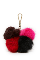 Diane von Furstenberg Medium Multi Fur Pom Pom