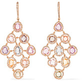 Amrapali Blossom 18-karat Gold, Sapphire And Diamond Earrings - one size