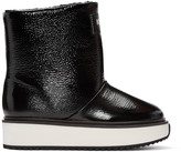 Kenzo Black Shearling Ankle Boots