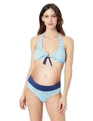 Prego Maternity Women's Maternity Floral Roll Waist Bikini