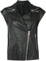 Sylvie Schimmel sleeveless biker jacket