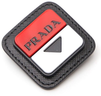 Prada Logo Embossed Brooch