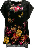 Pierre Louis Mascia Pierre-Louis Mascia floral cap sleeve blouse
