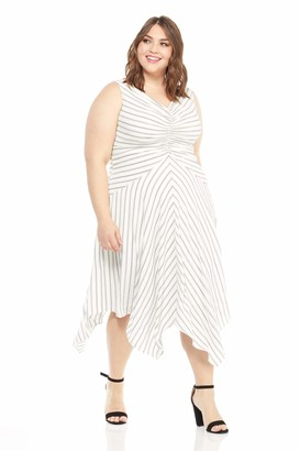 Maggy London Women's Rope Stripe Novelty Fit and Flare