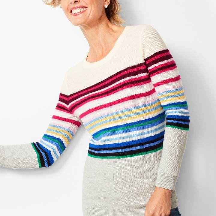 Talbots Stripe Crewneck Sweater