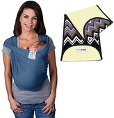 Baby K'tan Baby Ktan Original Cotton Baby Carrier in Denim + Natural Zig Zag K'tanCloth