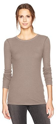 Three Dots Women's Heritage Rib Christy l/s mid Shirt