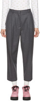 Acne Studios Grey Tabea Cropped Trousers