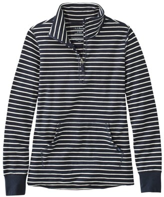 L.L. Bean Women's Ultrasoft Sweats, Quarter-Zip Pullover Stripe