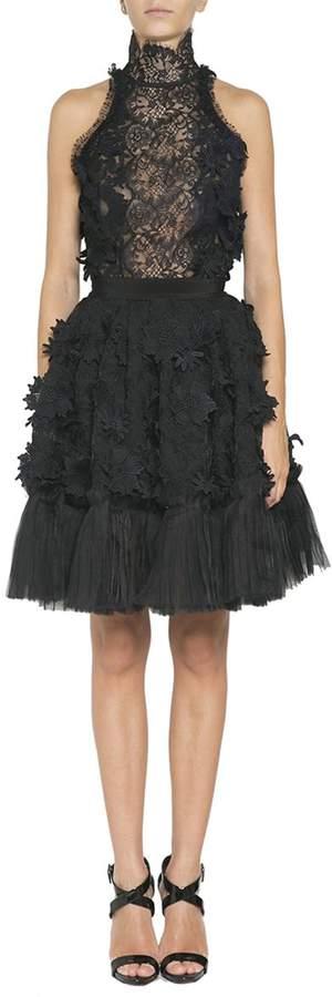 Amen Lace And Organza Dress