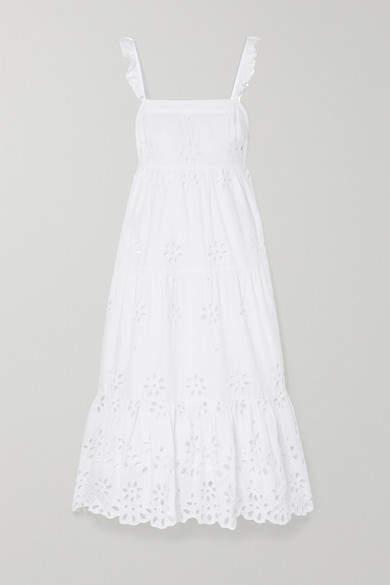 J.Crew Peyton Broderie Anglaise Cotton-voile Maxi Dress - White