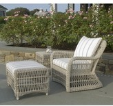 The Well Appointed House Kingsley Bate Southampton Wicker Ottoman-Available in Four Different Colors