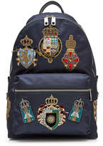 Dolce & Gabbana Fabric Backpack with Crest Patches