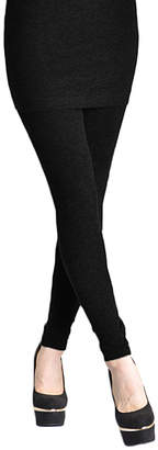 Angelina Women's Leggings BLACK - Black High-Waist Skirt Leggings - Women & Plus