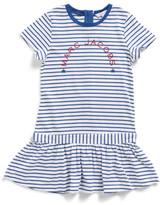 Little Marc Jacobs Girls Short Sleeve Striped Dress (2-10Y)