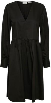 Gestuz StellaGZ Solid Black Dress - sz 34 | organic cotton | black - Black/Black