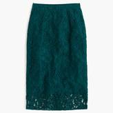 J.Crew Floral lace pencil skirt