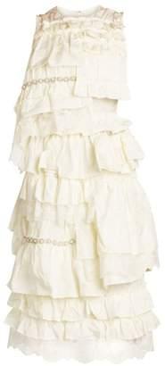 Simone Rocha Moncler Genius 4 Moncler Tiered Ruffle Dress
