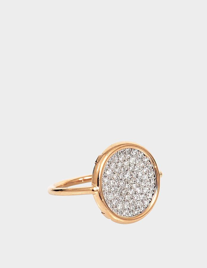 ginette_ny Diamond 18-karat rose gold Disc ring