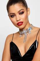boohoo Kerry Statement Diamante Festival Choker