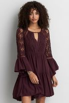 American Eagle Outfitters AE Tiered Keyhole Dress