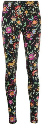 La DoubleJ Floral Multi-Print Leggings