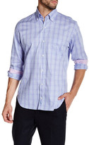 Tailorbyrd Lavender Long Sleeve Plaid Woven Shirt