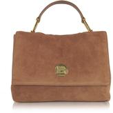 Coccinelle Liya Terra Suede Satchel Bag