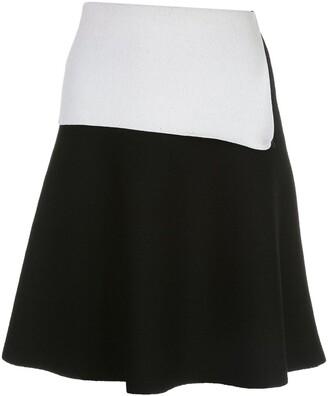 Proenza Schouler Two-Tone Knit Skirt