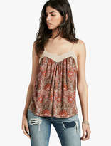 Lucky Brand Woven Mix Printed Tank