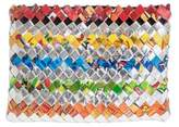 Hand Woven Recycled Wrapper Clutch, 'Festive'