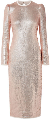 Rachel Zoe Jeane Open-back Sequined Crepe Midi Dress