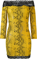 Faith Connexion off the shoulder snake print dress - women - Lyocell/Polyimide - XS