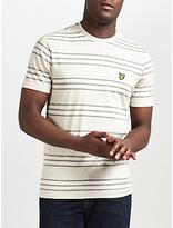 Lyle & Scott Double Stripe T-shirt, Light Grey Marl