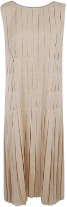 Fabiana Filippi Sleeveless Pleated Long Dress