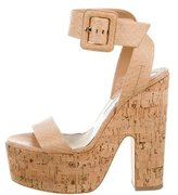 Brian Atwood Snakeskin Inko Sandals