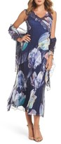 Komarov Women's Ruffle Maxi Dress With Wrap