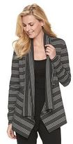 Dana Buchman Women's Stripes & Dots Open-Front Cardigan