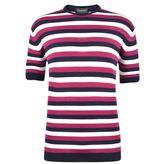 John Smedley Stripe Knitted T Shirt