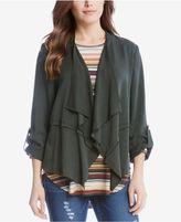 Karen Kane Draped Tab-Sleeve Jacket