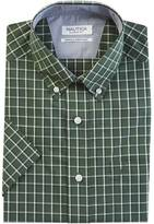Nautica Classic Fit Wrinkle Resistant Pacific Plaid Short Sleeve Shirt