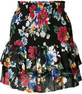 Piamita floral ruffled skirt - women - Silk - XS