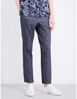 The Kooples Slim-fit Tapered Linen And Cotton-blend Trousers