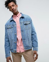 Lee Oversized Rider Denim Jacket Light Shade Wash