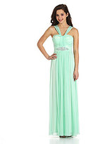 B. Darlin Ruched V-Neck Dress