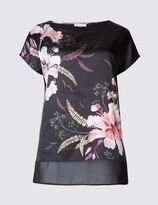 Marks and Spencer Floral Print Short Sleeve Jersey Top