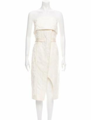 Alexis Strapless Knee-Length Dress w/ Tags White