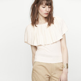 Maje Jumper with large pleated ruff